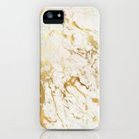 iPhone 5s & iPhone 5 Cases featuring Gold marble by Marta Olga Klara