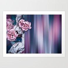 ROSES ABSTRACT Art Print