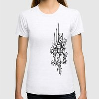 Dragon Head Womens Fitted Tee Ash Grey SMALL