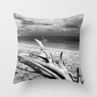 Tropical Beach Driftwood… Throw Pillow