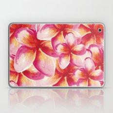 Plumeria Floral Watercolor Laptop & iPad Skin