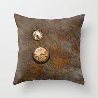 Clockworks Throw Pillow