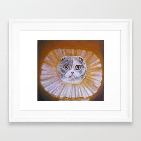 Chauncey Von Whiskerman Framed Art Print