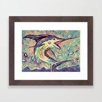 Jumping Marlin Framed Art Print