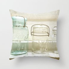 Jars of the Past Throw Pillow