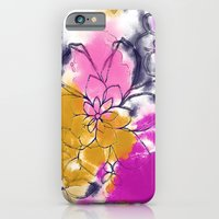 Abstract Flowers - Water… iPhone 6 Slim Case