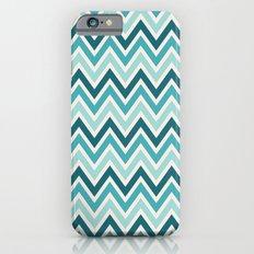 Indie Spice: Turquoise Chevron Slim Case iPhone 6s