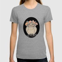 Lady Owl Ready For The F… Womens Fitted Tee Tri-Grey SMALL