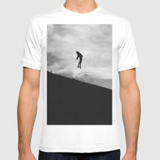 Fly SMALL White Mens Fitted Tee