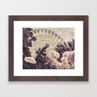 Cotton Candy Wheel Framed Art Print