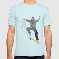 Skateboard 2 Mens Fitted Tee Light Blue SMALL