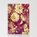 rich floral Stationery Cards