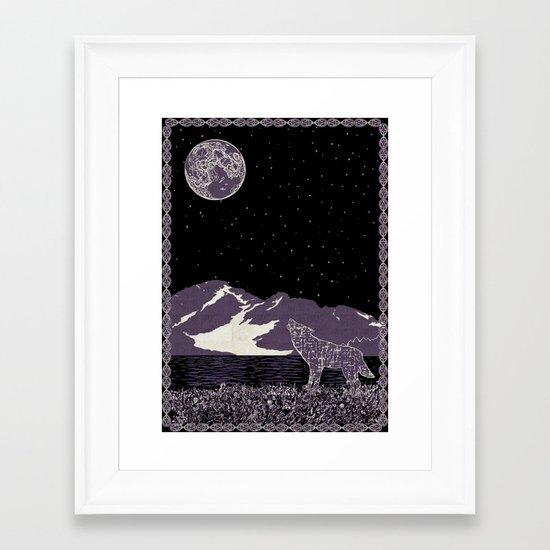 Wolf 1 Framed Art Print