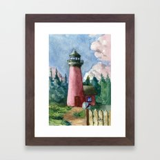 Cozy Lighthouse Framed Art Print