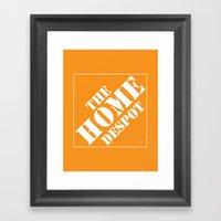 Home Despot Framed Art Print