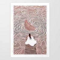 Sinking boat Art Print