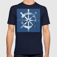Way Back to Reality Mens Fitted Tee Navy SMALL