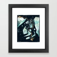 Climbing the Crevasse Framed Art Print