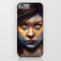 woman iPhone & iPod Cases featuring Una by Michael Shapcott