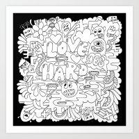 LOVE HARD Art Print