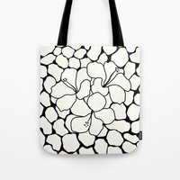 Hibiscus Animal: Ivory  Tote Bag