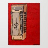 Bob Dylan's Harmonica  Canvas Print