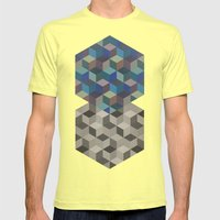 Dimension in blue Mens Fitted Tee Lemon SMALL