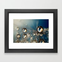 Royal Sea Blue Drops Framed Art Print