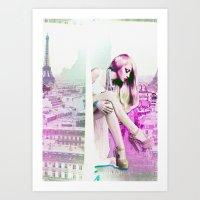 Paris in dreams Art Print
