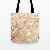 Pink And Gold Glitter  Tote Bag