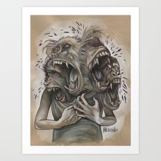 One Screaming Monkey at a Time Art Print
