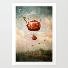 Tea For Two At Dusk Art Print