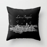 Los Angeles, California City Skyline Throw Pillow