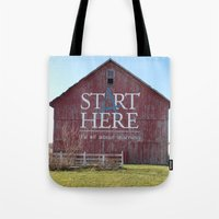 Start Here, It's All Abo… Tote Bag