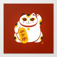 Lucky Cat 2 Canvas Print