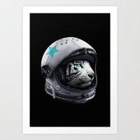 Astro Tiger Art Print