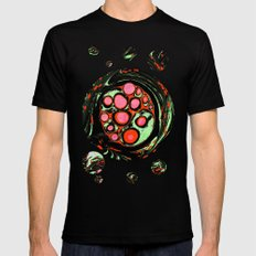 Psychedelic Circle Mens Fitted Tee Black SMALL