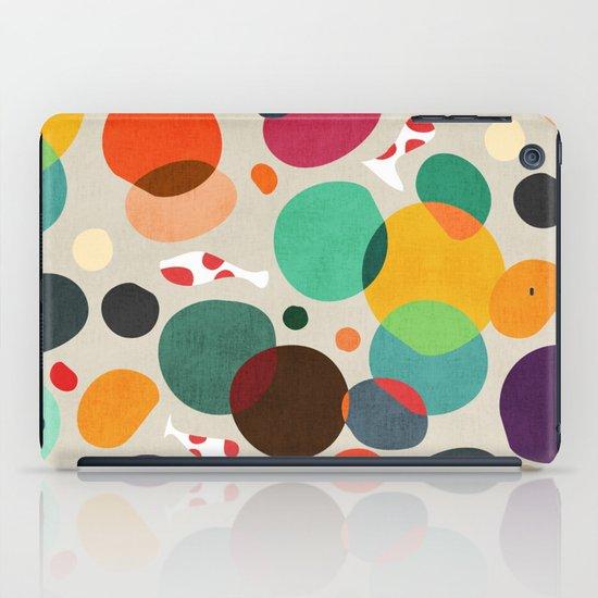 Lotus in koi pond iPad Case