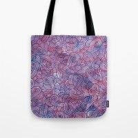 Purple Doodles Tote Bag