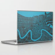 Laptop & iPad Skin featuring New Orleans Map by Map Map Maps