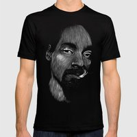 Snoop Dogg Mens Fitted Tee Black SMALL