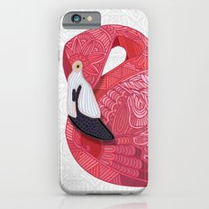 Pink Flamingos 2016 (white) iPhone 6 Slim Case