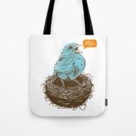 Twisty Bird Tote Bag