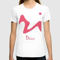 movie poster T-shirts featuring Drive - Movie Poster by ahutchabove