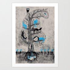 Tiger´s back Art Print