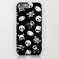 iPhone & iPod Case featuring Cute Skull by Sarinya  Withaya