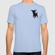 Micky the Goat Mens Fitted Tee Tri-Blue SMALL