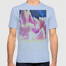 COTTON CANDY CLOUDS Mens Fitted Tee Athletic Blue SMALL