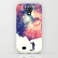 Galaxy S4 Cases featuring Painting the universe by badbugs_art