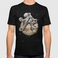Celestial Cephalopod Mens Fitted Tee Tri-Black SMALL